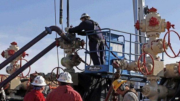Shale gas extraction operation in Colorado