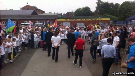 Crowds in Congleton