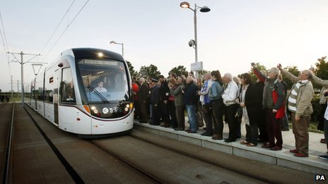 First Edinburgh tram service
