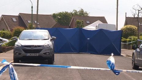 Crime scene in Verwood Crescent