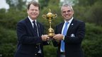 Tom Watson and Paul McGinley with the Ryder Cup