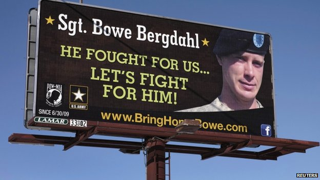 Billboard calling for the release of Sgt Bowe Bergdahl
