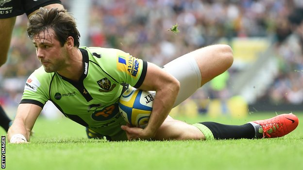Ben Foden scores for Northampton