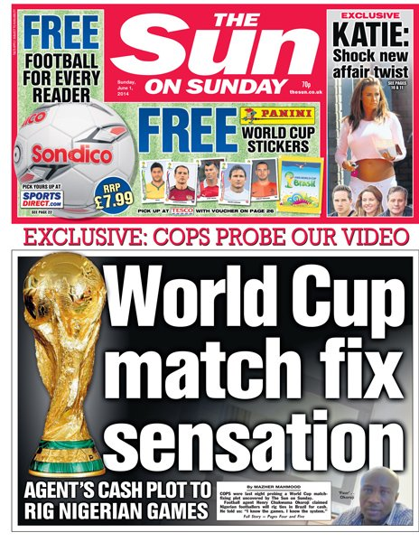 Sun on Sunday front page