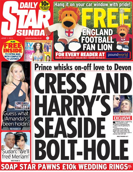 Daily Star Sunday front
