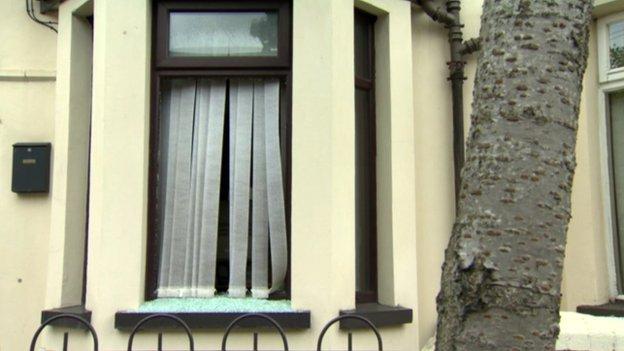 window smashed