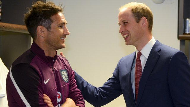 Prince William wishes England good luck