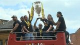 Northampton Saints with trophy