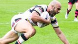 Adrian Purtell scores for Bradford against Wakefield