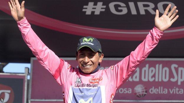 Nairo Quintana winner of Giro d'Italia