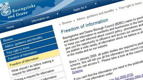 Basingstoke and Deane website screengrab