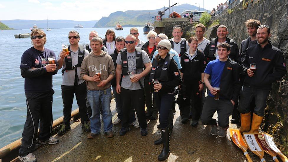 St Kilda to Skye row
