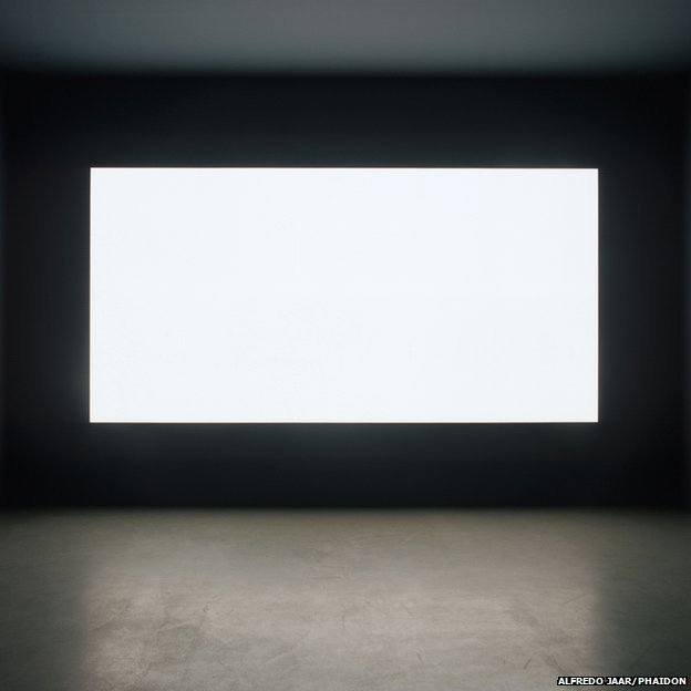 Lament of the Images (detail), 2002 by Alfredo Jaar