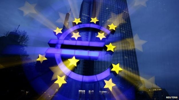 Euro sign in front of ECB headquarters