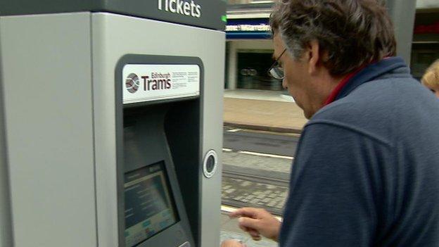 Edinburgh tram ticket machine