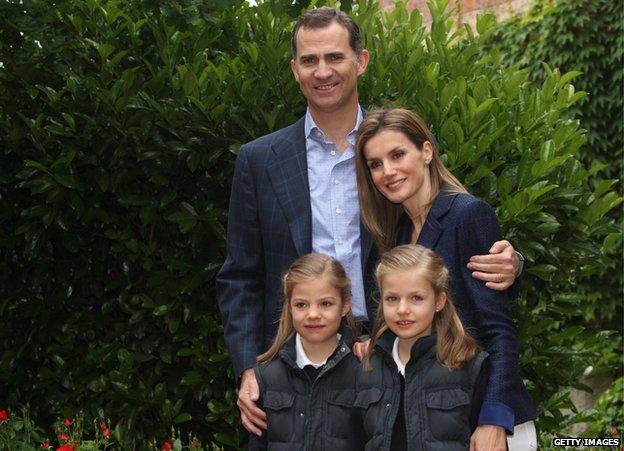 King Felipe VI and family 22 May 2014