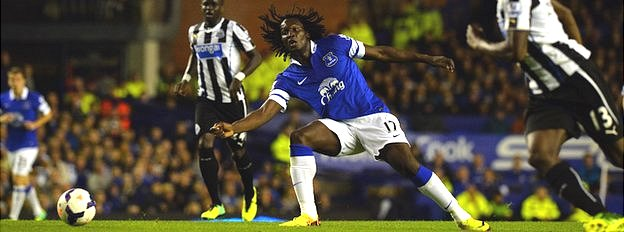Everton's Belgian forward Romelu Lukaku v Newcastle United