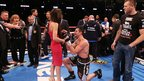 In the aftermath of his victory, Carl Froch unofficially asks his long-time partner Rachael Cordingley to marry him - it only being unofficial because he had no ring. She says yes.