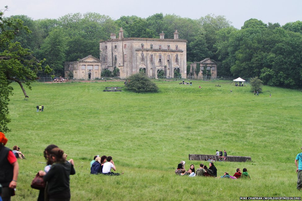Piercefield House in Piercefield Park