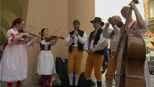 Musical group in Prague