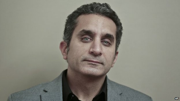 Egyptian satirist Bassem Youssef (file photo - January 2014)