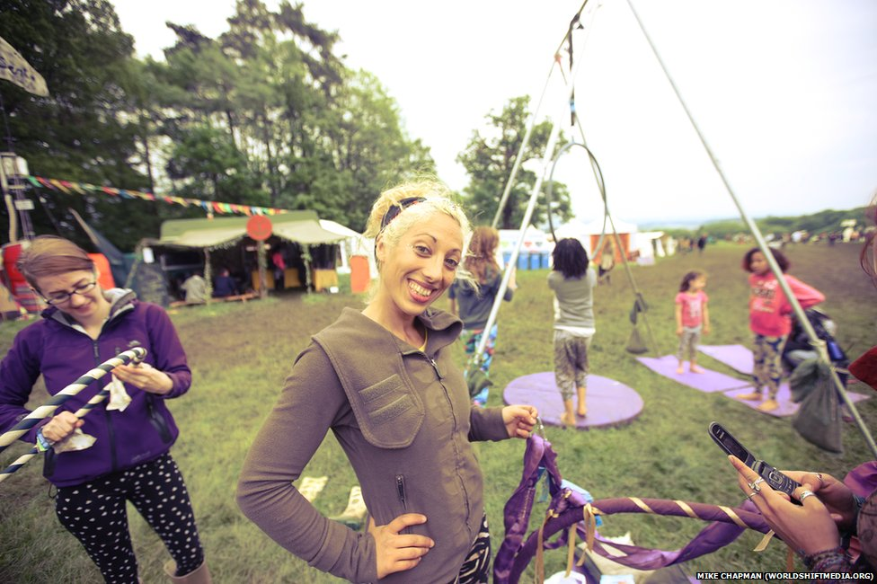 "Pole dancer Amirah Omran took time off from her job as an instructor at the LA Dance Studios in Trowbridge to provide some ""aerial instruction"" in the kids' field at the ninth annual Sunrise Celebration, in Piercefield Park"