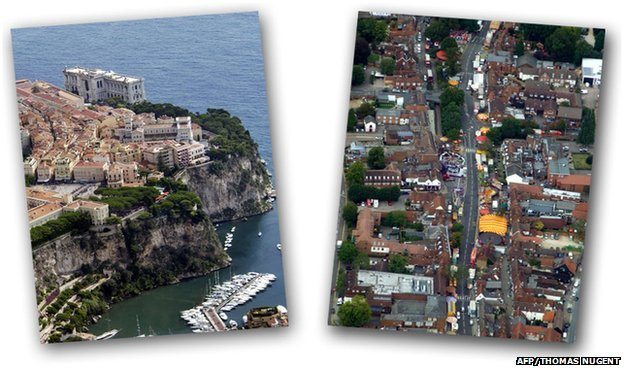 Monaco (left) and Stevenage (right)