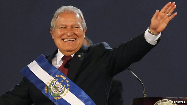 El Salvador's president, Sanchez Ceren