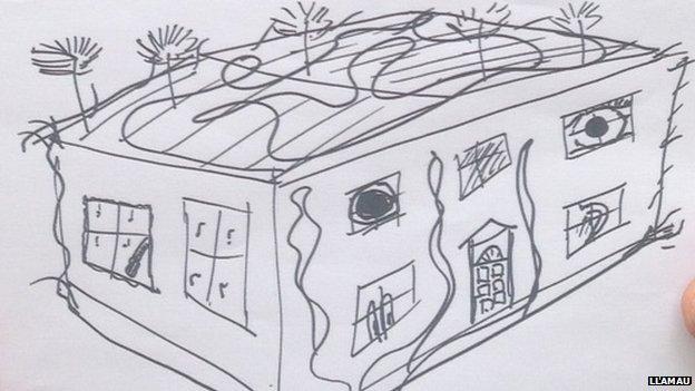 Bill Bailey's sketch of home