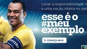 Former Brazil captain Cafu in a Liberty Seguros advertisement