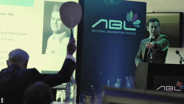Bidding at the National Badminton League auction