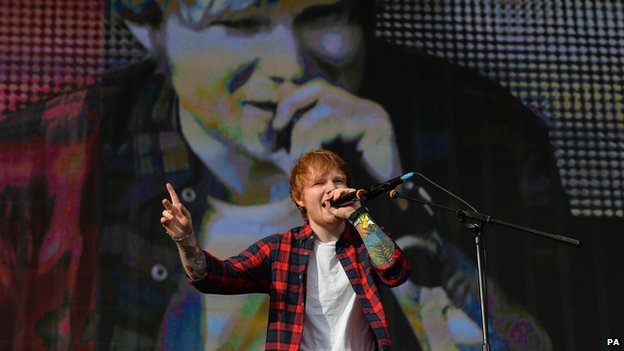 Ed Sheeran performs at Radio 1's Big Weekend