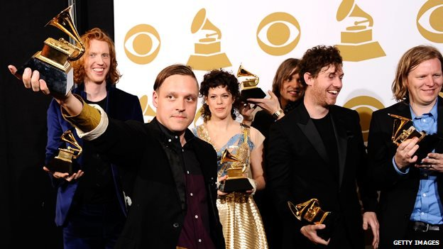 Arcade Fire at the 2011 Grammys