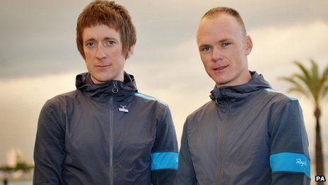 Bradley Wiggins and Chris Froome in 2013