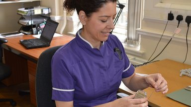 Nurse consultant Heather Williams