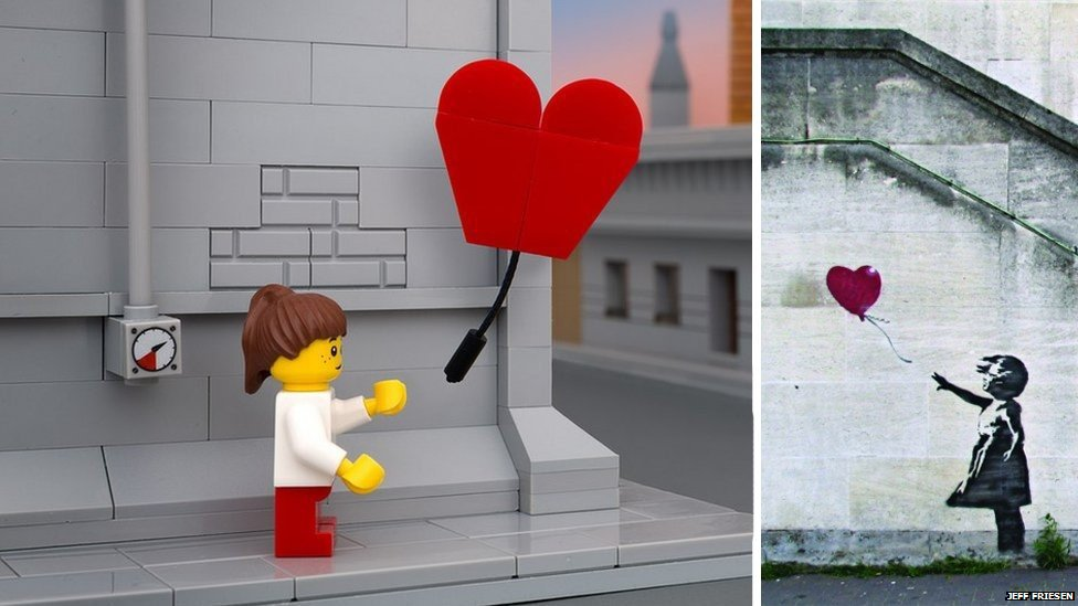 Balloon girl - Lego and real