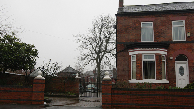 The house in Salford where the deaf woman was kept prisoner