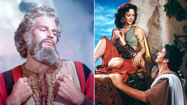 Publicity shots from The Ten Commandments and Samson and Delilah