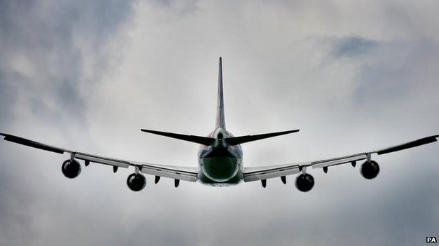 Plane taking off from Gatwick Airport