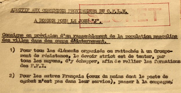 One of the D-Day documents