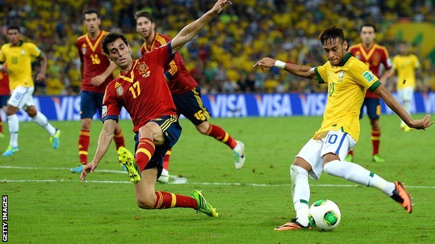 Neymar scored in the Confederations Cup final