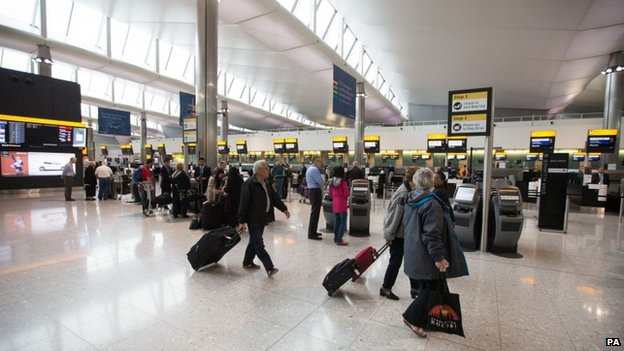 Passengers at Heathrow Terminal 2