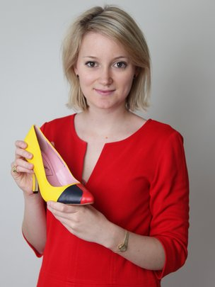Sarah Watkinson-Yull with one of her shoes