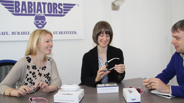 Babiators co-founders, left to right, Molly Fienning, Carolyn Guard and Matthew Guard