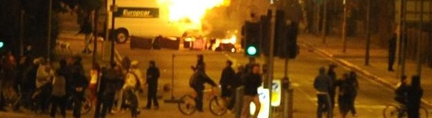 Rioting in Liverpool in 2011