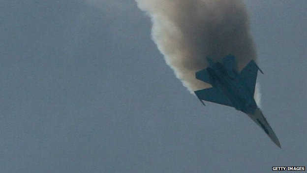 A Russian SU-27 Flanker appeared near Moscow, Russia, on 25 August 2007