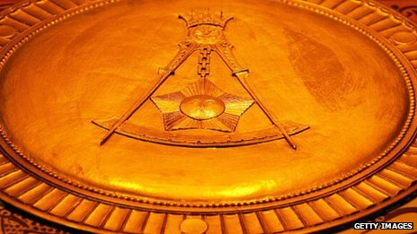Masonic square and compasses symbol
