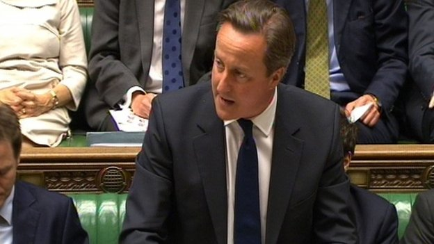 David Cameron at state opening of Parliament