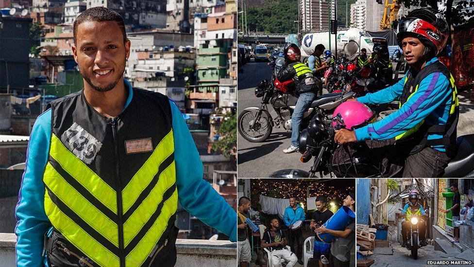 Felipe Ribas, moto-taxi driver