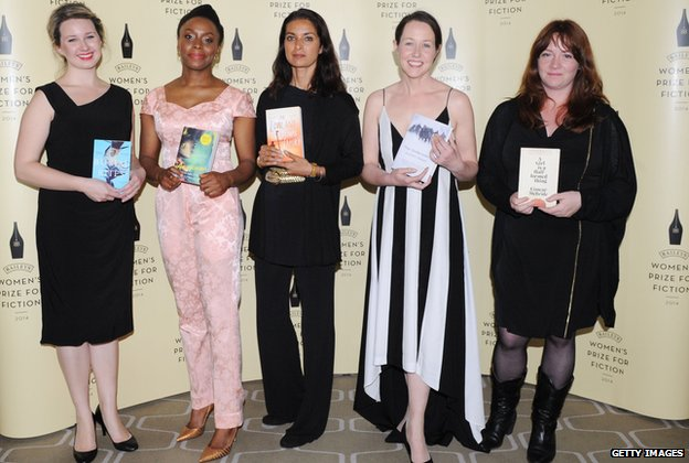 On the shortlist: Hannah Kent, Chimamanda Ngozi Adichie, Jhumpa Lahiri, Audrey Magee and Eimear McBride